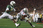 Ohio State wide receiver DeVier Posey runs into the endzone for a touchdown past Oregon cornerback Anthony Gildon in the 96th Rose Bowl in Pasadena, Ca January 1, 2010.