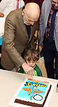 Charles Strouse with grandson celebrating his 90th Birthday during the Children's Theatre of Cincinnati presentation for composer Charles Strouse of 'Superman The Musical' at Ripley Grier Studios on June 8, 2018 in New York City.