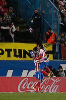 20.01.2013 SPAIN -  La Liga 12/13 Matchday 20th  match played between Atletico de Madrid vs Levante Union Deportiva (2-0) at Vicente Calderon stadium. The picture show  Adrian Lopez Alvarez (Spanish striker of At. Madrid)