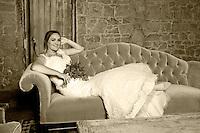 The glamorous bride.