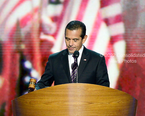 Mayor Antonio R. Villaraigosa of Los Angeles California opens the second session of the 2012 Democratic National Convention in Charlotte, North Carolina on Wednesday, September 5, 2012.  .Credit: Ron Sachs / CNP.(RESTRICTION: NO New York or New Jersey Newspapers or newspapers within a 75 mile radius of New York City)