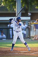Emmanuel Rivera (24) of the Burlington Royals at bat against the Princeton Rays at Burlington Athletic Stadium on June 24, 2016 in Burlington, North Carolina.  The Rays defeated the Royals 16-2.  (Brian Westerholt/Four Seam Images)