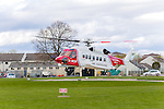 HM Coastguard search and rescue helicopter lands at Raigmore Hospital in Inverness.<br /> <br /> Pictured: HM Coastguard, Sikorsky S92 helicopter, G-MCGF, Rescue 951, based at Inverness Dalcross Airport<br /> <br /> Image by: Malcolm McCurrach | &copy; Malcolm McCurrach 2017 | New Wave Images UK | Insertion and use fees apply | All rights Reserved. picturedesk@nwimages.co.uk | www.nwimages.co.uk | 07743 719366