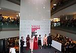September 9, 2017, Tokyo, Japan - (L-R) Chris Peppler, Arisa Urahama, Mademoiselle Yulia, Yuka Mannami, Hikari Mori, Mika Nakashima, Ryo Ryusei and Naoki Kobayashi pose for photo at the opening ceremony for the Vogue Fashion's Night Out 2017 in Tokyo on Saturday, September 9, 2017. Some 630 shops participated one-night fashion shopping event in Tokyo. (Photo by Yoshio Tsunoda/AFLO) LWX -ytd-