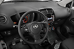 High angle dashboard view of a 2008 Scion XD