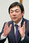 Hiroshi Watanabe Executive Officer of Showa Shell Sekiyu KK answers questions from the media during a news conference on May 9, 2017, Tokyo, Japan. The two oil distributors announced a business alliance to consolidate their refining and supply operations. Despite opposition from Idemitsu's founding family, the companies signed the agreement today and it will take immediate effect under the banner ''Brighter Energy Alliance.'' (Photo by Rodrigo Reyes Marin/AFLO)