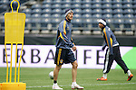 21 November 2009: David Beckham (ENG). The Los Angeles Galaxy held a training session at Qwest Field in Seattle, Washington in preparation for playing Real Salt Lake in Major League Soccer's championship game, MLS Cup 2009, the following day.