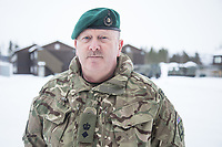 Luitenant Colonel West, Royal Marines, is in charge of the British Arctic training program Clockwork, at Bardufoss in Norway.  British Merlin helicopter practice in the Arctic,  near Bardufoss, Norway. <br /> <br /> 845 Naval Air Squadron is a squadron of the Royal Navy's Fleet Air Arm. Part of the Commando Helicopter Force, it is a specialist amphibious unit operating the Leonardo Commando Merlin Mk3 helicopter and provides troop transport and load lifting support to 3 Commando Brigade Royal Marines.<br /> <br /> &copy;Fredrik Naumann/Felix Features