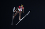 Stefan Hula (POL). Mens normal hill individual. Qualification. Ski jumping. Alpensia ski jump centre. Pyeongchang2018 winter Olympics. Alpensia. Pyeongchang. Republic of Korea. 08/02/2018. ~ MANDATORY CREDIT Garry Bowden/SIPPA - NO UNAUTHORISED USE - +44 7837 394578