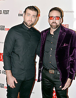 LOS ANGELES, CA - SEPTEMBER 30: Weston Cage and Nicolas Cage at the retrospective of Paul SchraderÕs body of work and The Beyond Fest Screening and Retrospective of Dog Eat Dog hosted by American Cinematheque at the Egyptian Theatre in Los Angeles, California on September 30, 2016. Credit: Koi Sojer/Snap'N U Photos/MediaPunch
