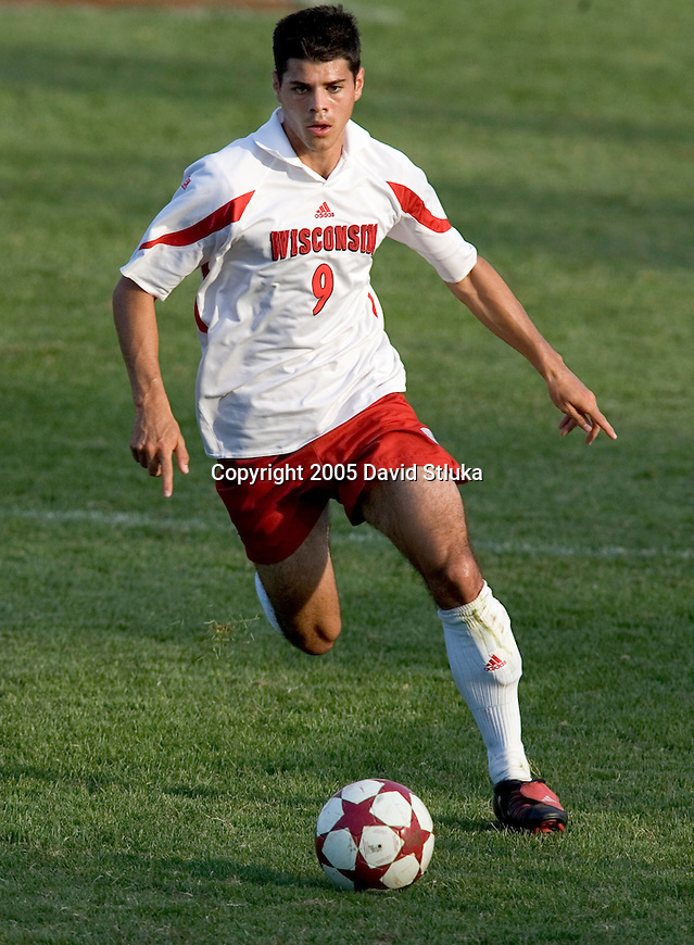 MADISON, WI - SEPTEMBER 4: The Wisconsin Badgers soccer team vs. the Drake Bulldogs at the McClimon Soccer Complex on September 4, 2005 in Madison, Wisconsin. The Badgers beat the Bulldogs 2-1 in overtime. Photo by David Stluka.
