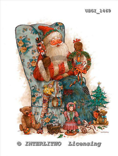 GIORDANO, CHRISTMAS SANTA, SNOWMAN, WEIHNACHTSMÄNNER, SCHNEEMÄNNER, PAPÁ NOEL, MUÑECOS DE NIEVE, nostalgic, paintings+++++,USGI1469,#X# nostalgic,vintage