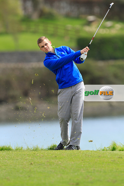 Dylan Burke (Cahir Park) on the 13th during Day 2 of The Munster Youths' Amateur Open Championship in Dungarvan Golf Club on Thursday 24th April 2014.<br /> Picture:  Thos Caffrey / www.golffile.ie