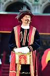 Bert Kruisman  invit&eacute; d&rsquo;honneur de l&rsquo;&eacute;dition 2014 du spectacle historique de l&rsquo;Ommegang, a la Grand Place de Bruxelles.<br />  Belgique, Bruxelles, 03 juillet, 2014.