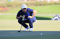 Tom Lewis (ENG) on the 17th green during Friday's Round 2 of the 2018 Turkish Airlines Open hosted by Regnum Carya Golf &amp; Spa Resort, Antalya, Turkey. 2nd November 2018.<br /> Picture: Eoin Clarke | Golffile<br /> <br /> <br /> All photos usage must carry mandatory copyright credit (&copy; Golffile | Eoin Clarke)