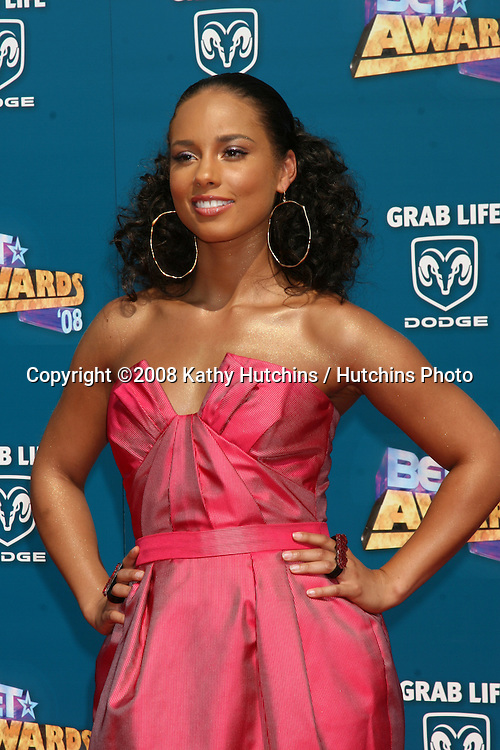 Alicia Keys  arriving  at the BET Awards at the Shrine Auditorium in Los Angeles, CA on.June 24, 2008.©2008 Kathy Hutchins / Hutchins Photo .