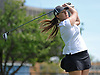 Tess Murphy of Holy Trinity tees off on the 13th Hole of Eisenhower Park's Blue Course during the Nassau-Suffolk CHSAA girls golf championship on Tuesday, May 16, 2017. She took second place in the even with a 6-over 78.