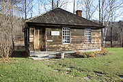 Eureka Schoolhouse during the autumn months in Springfield, Vermont USA which is part of scenic New England. This is the oldest one-room schoolhouse in Vermont