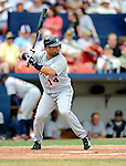 11 March 2008: Detroit Tigers' infielder Placido Polanco at bat during a Spring Training game against the Cleveland Indians at Chain of Lakes Park, in Winter Haven Florida.The Tigers rallied to defeat the Indians 4-2 in the Grapefruit League matchup....Mandatory Photo Credit: Ed Wolfstein Photo