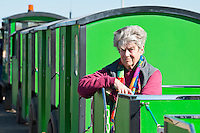 BNPS.co.uk (01202 558833)<br /> Pic: RachelAdams/BNPS<br /> <br /> Owner Joyce Faris, 88, who runs the train 364 days a year. <br /> <br /> There was outrage today after a family that has run one of Britain's first 'Noddy' land trains for 46 years were served with a notice to quit the service.<br /> <br /> The much-loved novelty train that carries people to a remote beach was started in 1968 by the late Roger Faris, who hand-built the carriages himself.<br /> <br /> Since his death 34 years ago his widow Joyce, 88, has operated the independent service for 364 days a year and runs it more as a hobby than a profitable business.<br /> <br /> The little train has been used by generations of people and become a popular fixture at the Hengistbury Head beauty spot in Dorset.<br /> <br /> Now after five decades of service, town hall officials have told Mrs Faris they will not be renewing their contract with her as they intend to operate their own train service.
