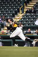 Bradenton Marauders third baseman Walker Gourley (5) during a game against the Jupiter Hammerheads on April 19, 2014 at McKechnie Field in Bradenton, Florida.  Bradenton defeated Jupiter 4-0.  (Mike Janes/Four Seam Images)