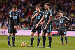 Real Sociedad's Carlos Vela, Asier Illarramendi, Willian Jose da Silva and Kevin Rodriguez during La Liga match between Real Madrid and Real Sociedad at Santiago Bernabeu Stadium in Madrid, Spain. January 29, 2017. (ALTERPHOTOS/BorjaB.Hojas)