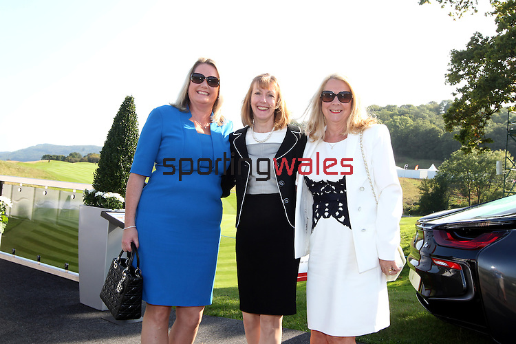 ISPS Handa Wales Open<br /> Judith Williams, Jill Yates and Sue Hennah.<br /> Celtic Manor Resort<br /> 21.09.14<br /> ©Steve Pope-SPORTINGWALES