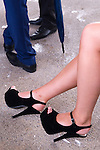 Royal Ascot horse racing Berkshire. 2012 Fashionable high heel shoes. She said they were very painful.