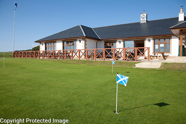 Blackwaterfoot Golf Clubhouse on the Isle of Arran in Scotland