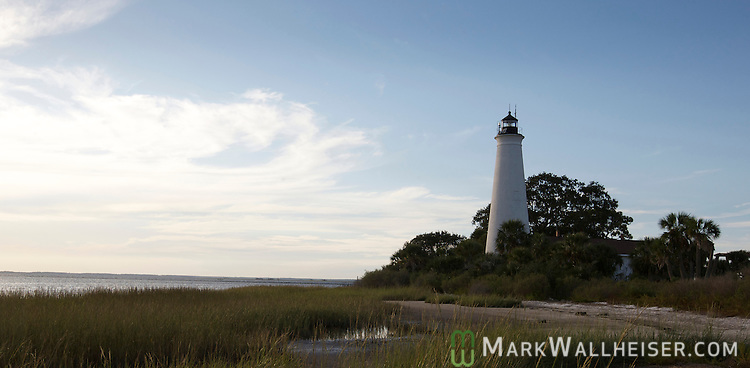 The lighthouse at the St Marks National Wildlife Refuge in Wakulla County Florida September 29, 2009.  (Mark Wallheiser/TallahasseeStock.com)
