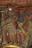 Europe/France/Auvergne/63/Puy-de-Dôme/Issoire: L'église Saint-Austremoine (ancien abbatiale XIIème xiècle) - Détail chapiteau de la Passion - Flagellation