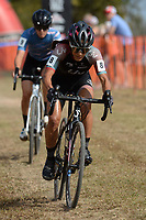 NWA Democrat-Gazette/ANDY SHUPE<br /> Crystal Anthony competes Saturday, Oct. 5, 2019, in the UCI elite women's race during the inaugural FayetteCross two-day cyclocross race series on Millsap Mountain at Centennial Park in Fayetteville. Visit nwadg.com/photos to see more photographs from the race.