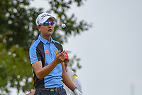 Sadom KAEWKANJANA (THA) tosses a ball as he prepares to tee off on 18 during Rd 3 of the Asia-Pacific Amateur Championship, Sentosa Golf Club, Singapore. 10/6/2018.<br /> Picture: Golffile | Ken Murray<br /> <br /> <br /> All photo usage must carry mandatory copyright credit (© Golffile | Ken Murray)