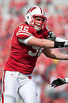 Wisconsin Badgers defensive lineman Pat Muldoon (92)during an NCAA college football game against the Austin Peay Governors on September 25, 2010 at Camp Randall Stadium in Madison, Wisconsin. The Badgers beat the Governors 70-3. (Photo by David Stluka)
