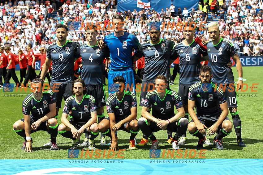 Galles Formazione Wales Team Line Up <br /> Lens 16-06-2016 Stade Bollaert-Delelis Footballl Euro2016 England - Wales / Inghilterra - Galles Group Stage Group B. Foto Daniel Chesterton / PHC / Panoramic / Insidefoto