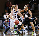SIOUX FALLS, SD: MARCH 23:  Sarah Hart #33 of Ashland drives on Megan Skaggs #20 of Central Missouri during their game at the 2018 Division II Women's Basketball Championship at the Sanford Pentagon in Sioux Falls, S.D. (Photo by Dick Carlson/Inertia)
