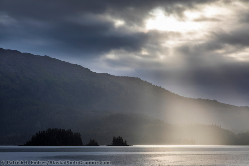 Coastal landscape of the Chugach mountains  in College Fjord, Prince William Sound, Alaska.