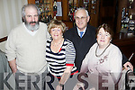 Pictured in The Swanky Bar, Tarbert last Thursday night for New Years Eve celebrations was Teddy and Nora Griffin along with Jackie Henchy and Joan Brennan.