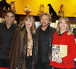 """Cast of Days Of Our Lives - Galen Gering, Stephen Nichols, Lauren Koslow, Diedre Hall sign book """"Days Of Our Lives 50 Years"""" by Greg Meng - author & co-executive producer on October 27, 2015 at Books & Greetings, Northvale, New Jersey. (Photo by Sue Coflin/Max Photos)"""