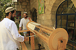 Israel, Upper Galilee, weaving in Old Safed