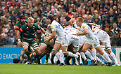 30th September 2017, Welford Road, Leicester, England; Aviva Premiership rugby, Leicester Tigers versus Exeter Chiefs;  Julian Salvi makes a break for Exeter