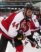 Dax Lauwers (NU - 44) - The Northeastern University Huskies defeated the University of Massachusetts Lowell River Hawks 4-1 (EN) on Saturday, January 11, 2014, at Fenway Park in Boston, Massachusetts.