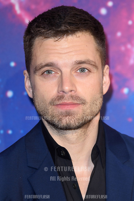 Sebastian Stan arriving for the &quot;Avengers: Infinity War&quot; fan event at the London Television Studios, London, UK. <br /> 08 April  2018<br /> Picture: Steve Vas/Featureflash/SilverHub 0208 004 5359 sales@silverhubmedia.com