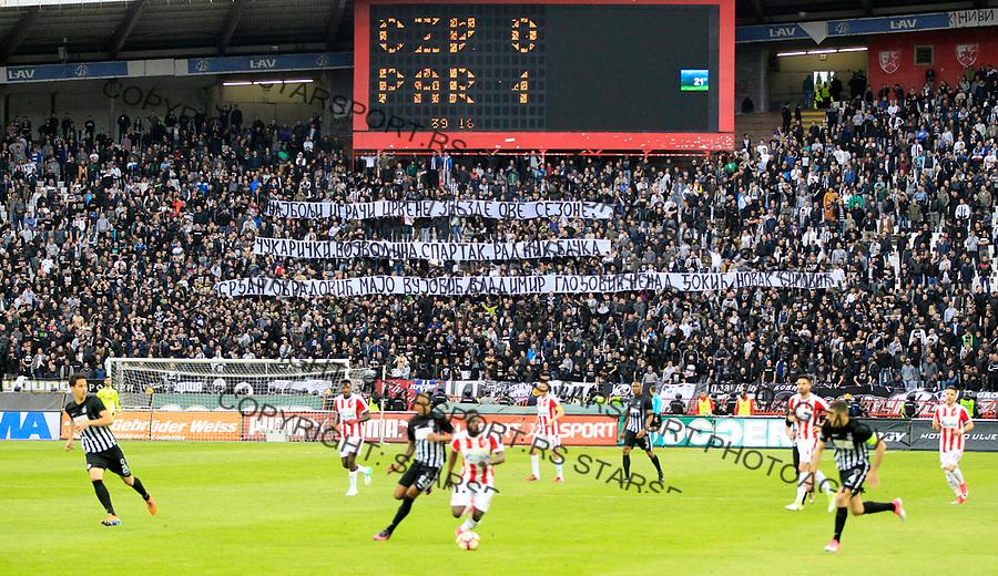 navijaci grobari jug  18.4.1017. April 18. 2017. Superliga Srbije,  Crvena Zvezda - Partizan derbi plej of play off (credit image & photo: Pedja Milosavljevic / STARSPORT)