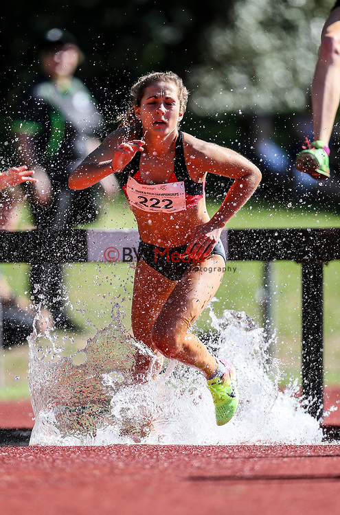 Rosa Flanagan, senior steeplechase. NZ Athletic Championships, Porritt Stadium, Hamilton, Waikato, New Zealand,  Sunday 19 March 2017. Photo: Simon Watts/www.bwmedia.co.nz
