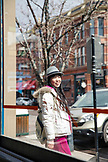 USA, Colorado, Aspen, Japanese tourist on vacation in downtown Aspen