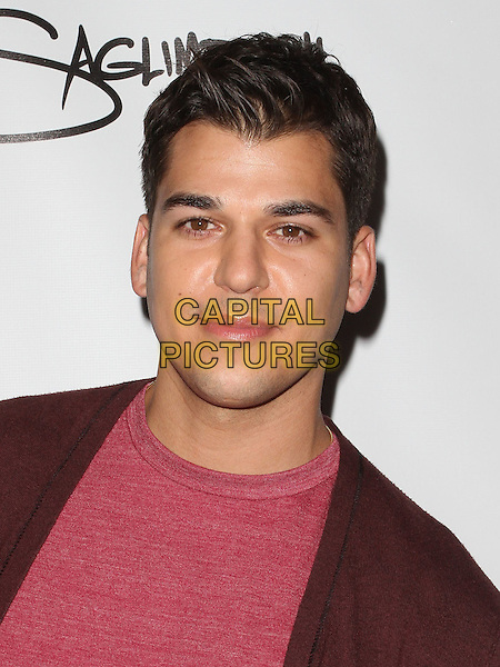 Rob Kardashian.The World's Most Beautiful Magazine Launch Event held at Drai's in Hollywood, California, USA..August 10th, 2011.headshot portrait pink red top shirt brown.CAP/ADM/KB.©Kevan Brooks/AdMedia/Capital Pictures.