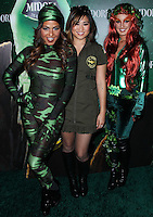 WEST HOLLYWOOD, CA - OCTOBER 29: Christina Milian, Jenna Ushkowitz, Shenae Grimes at 3rd Annual Midori Green Halloween Party held at Bootsy Bellows on October 29, 2013 in West Hollywood, California. (Photo by Xavier Collin/Celebrity Monitor)