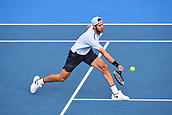11th January 2018, ASB Tennis Centre, Auckland, New Zealand; ASB Classic, ATP Mens Tennis;  Karen Khachanov (RUS) during the ASB Classic ATP Men's Tournament Day 4 Quarter Finals