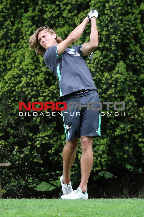 23.07.2015, Club zur Vahr eV, Bremen, GER, SV Werder Bremen Golfturnier<br /> <br /> im Bild<br /> Jannik Vestergaard (Bremen #7) beim Abschlag<br /> <br /> Foto &copy; nordphoto / Ewert